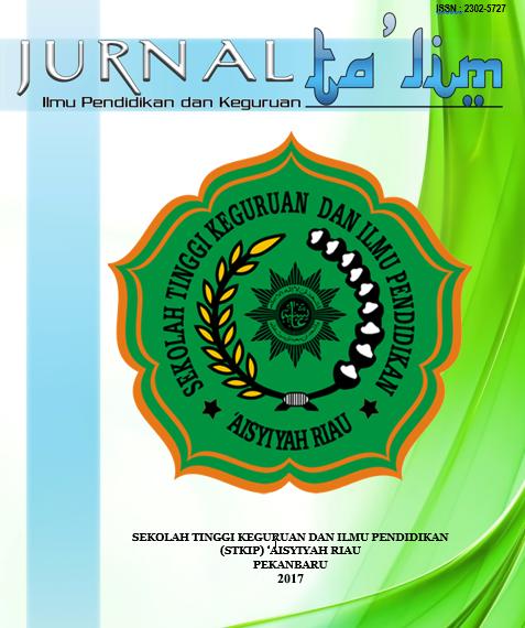 JURNAL TA'LIM VOL.V NO.2 DESEMBER 2017